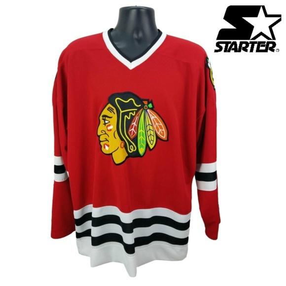 outlet store 2a31c 0daec STARTER Chicago Blackhawks Hockey Jersey Large L